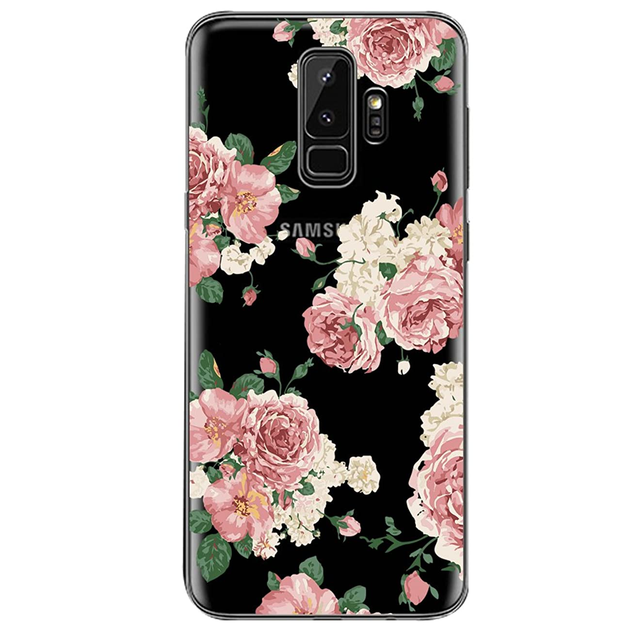 Case for Samsung Galaxy S9 Plus,Floral Pattern Clear TPU Phone case for S9 Plus