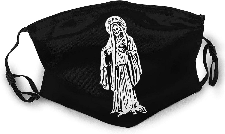 Face Mask La Santa Muerte Balaclava Mask Outdoor Washable Breathable Reusable for Women Cover Black