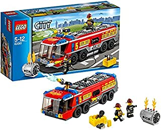 LEGO CITY Airport Fire Truck with Two Minifigures and Accessories   60061
