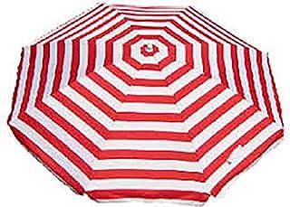 Banz Outdoor's Noosa UV-paraply, randigt, 180 cm, röd/vit