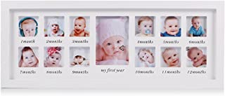 White 16x16-inch My First Year Baby Photo Wood Frame Baby Frames Collection