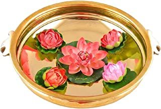 PARIJAT HANDICRAFT Original Brass Decorative Bowl/URULI/URLI for Home & Office Decoration (12 INCH)