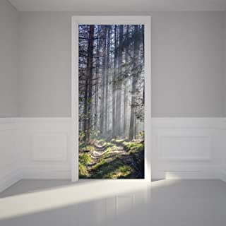 Details about  /Self adhesive Door Wall wrap removable Peel /& Stick Landscape Old Street