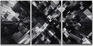 wall26 - 3D Black Cubes Pattern - Canvas Art Wall Decor - 24