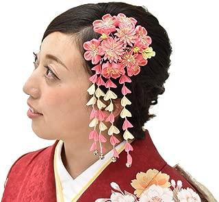 Hitotoki Women's Hair Accessory Kimono Geisha Kanzashi Comb Pink Japan Mt.Fuji