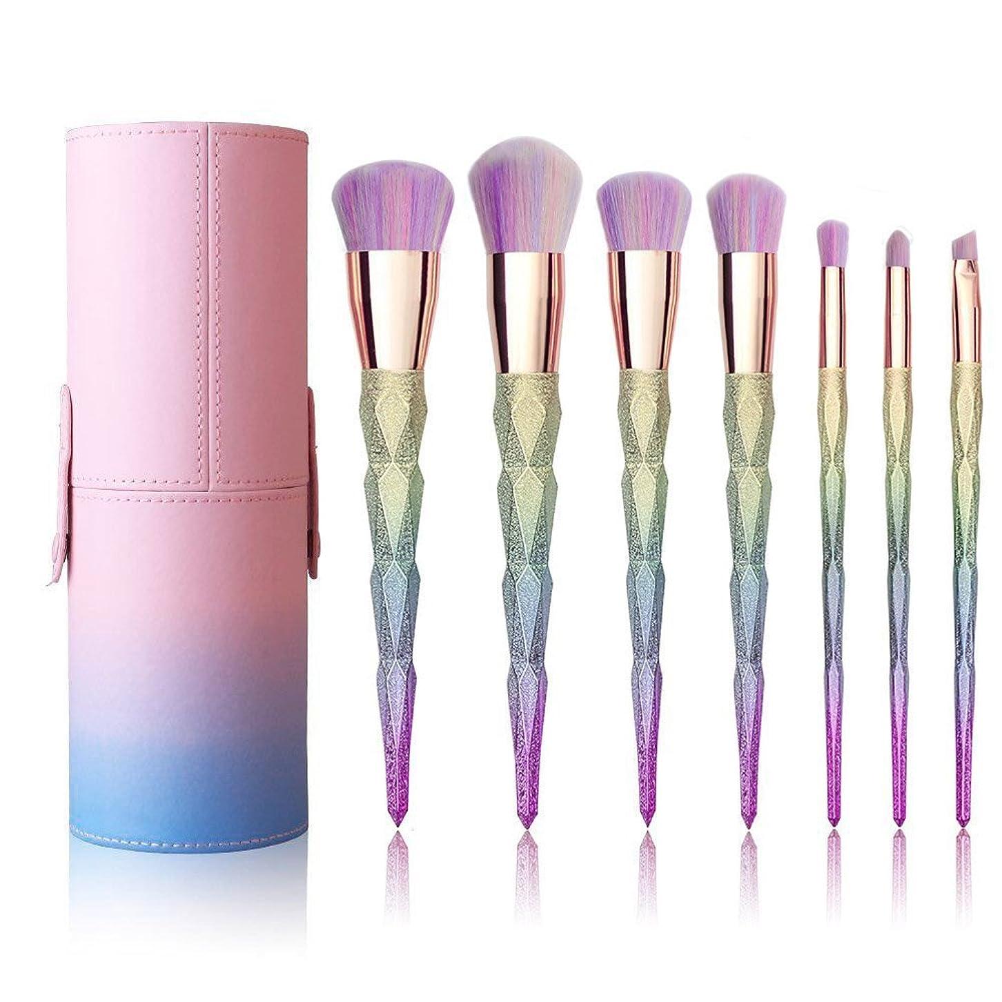トランスミッションフェミニン岩XULHKA 7本の化粧ブラシ化粧品ブラシセットアイシャドウリップフェイスツールブラシキット
