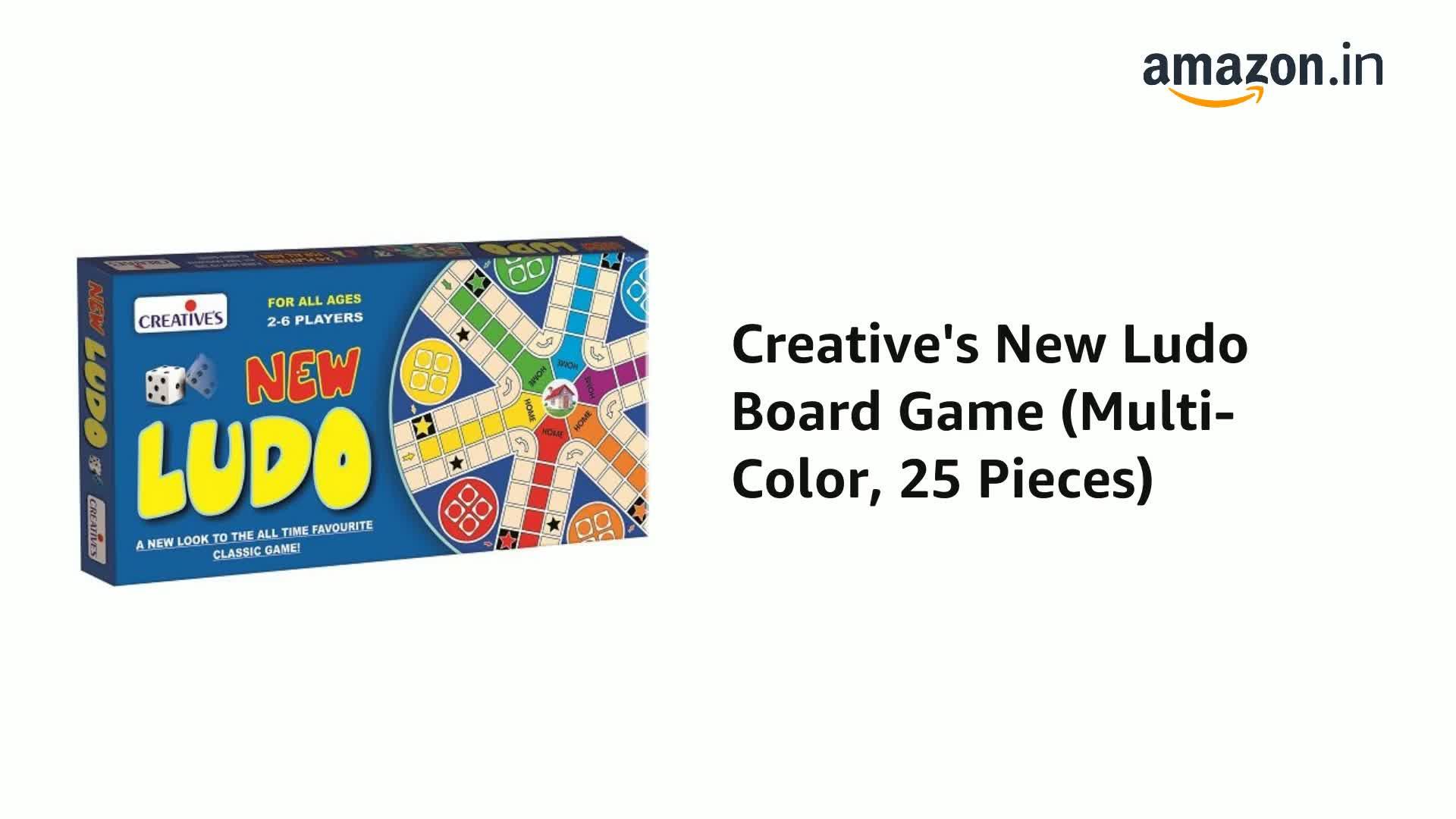 Multi-Color, 25 Pieces New Ludo Board Game