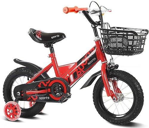 """hasta un 70% de descuento FJ-MC 12 , 14 , , , 16 , 18  Bicicleta para Niños, Unisexo Bicicleta de Niños. con rines de Entrenamiento y Canasta, para 3 6 9 años Girls & Boys,rojo,18""""  ahorra hasta un 80%"""