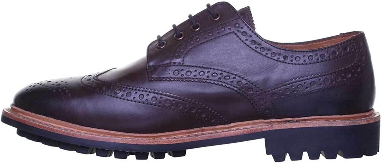 Justin Reece Mens Leather Brogue Boot Dealer Office Work Formal Welted shoes