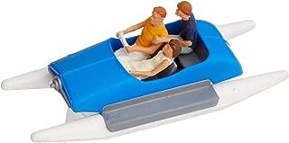 Preiser 10682 Pedal Boat w/Family Set #1 (Blue, White) HO Scale Figure Model