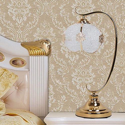 ZHENAO Lampe De Table à LED Créative, Lampe De Table Moderne Européenne Chambre Lampe De Table Lampe De Table De Prougeection Des Yeux Dimmable