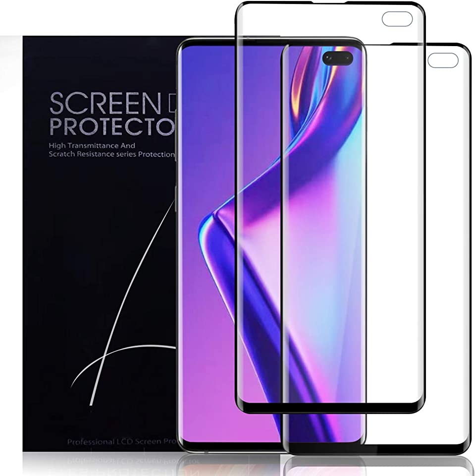[2 Pack] Yersan Screen Protector for Samsung Galaxy S10 Plus, [Full Coverage] [Anti-Scratch] [Ultrasonic Fingerprint Support] [Case Friendly] HD Clear Screen Protector Film for Samsung Galaxy S10 Plus