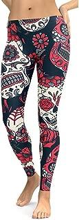 Women's Fashion Unique Skull Graffiti Print Leggings Casual Sexy Outdoor Gym Yoga Pants Tights