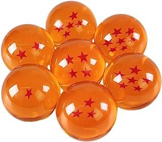 شیشه های اکریلیک کریستالی بزرگ جمع آوری شده CXU 7 ستاره توپ ، 7 عدد جعبه هدیه ، 76MM (3 اینچ) با قطر