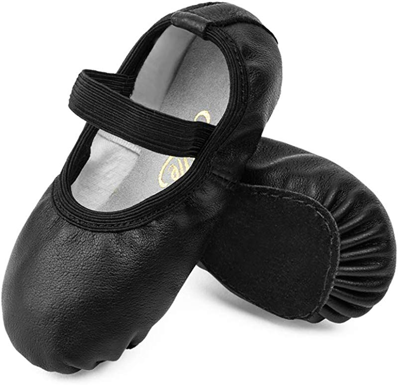 STELLE Premium Leather Ballet Slipper Ballet Shoes Toddler Little Kid