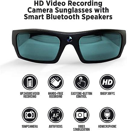 c769de09017 GoVision SOL 1080p HD Camera Glasses Video Recording Sport Sunglasses with  Bluetooth Speakers and 15mp Camera