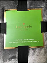 Kate Spade New York Full/Queen Fleece Blanket Dark Gray