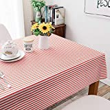 DSman fácil de Limpiar, para jardín, Habitaciones, decoración de Mesa, Rayas Simples de Color Pastoral de algodón y Lino
