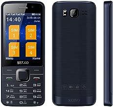 Quad Sim Phone 2.8 inch HD Big Screen 4 SIM Card 4 Standby Dual Camera GPRS Bluetooth Russian Keyboard Mobile Phone Unlocked (Black)