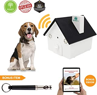 Petserenity 2018 Upgrade Ultrasonic Bark Control Device-Anti - Barking Training Tool Safe Deterrent Silencer for Yard - Outdoor Sonic Control for Small/Medium/Large Dogs - Up to 50 Feet Effective