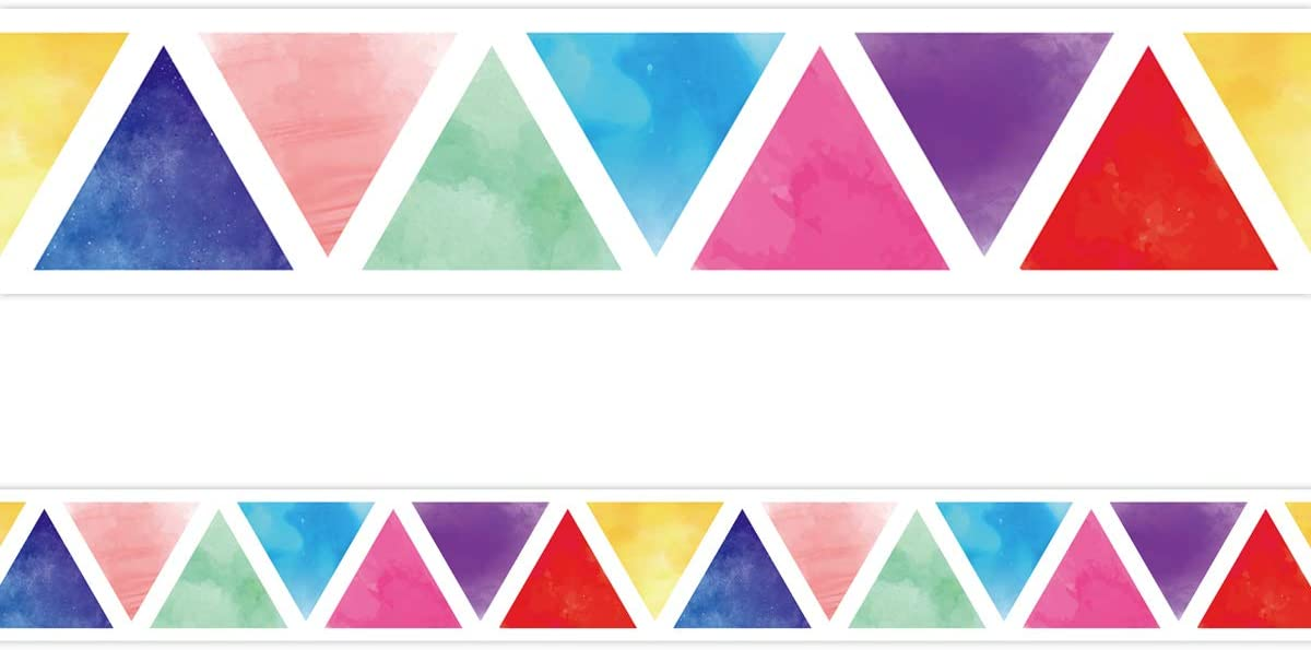 Watercolor specialty shop Sales results No. 1 Bulletin Board Straight Trimmer Border for Classroom