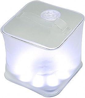 Choreau 充气磨砂立方太阳生存紧急灯笼,防水可充电太阳能 LED 灯,露营徒步狩猎钓鱼庭院派对手电筒灯