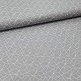 Schickliesel Baumwollstoff Meterware Triangles (grau)