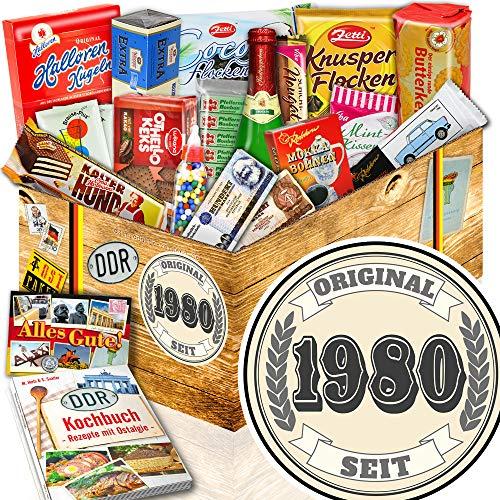 Original seit 1980 ++ Frauen Geschenk 40 Geburtstag ++ Süße Nostalgiebox