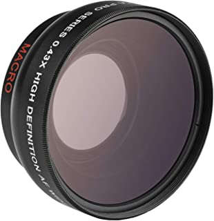 Opteka 0.43x High Definition Auto Focus Wide Angle Lens with Macro Attachment for Canon, Fuji, Nikon, Panasonic, Sony and ...
