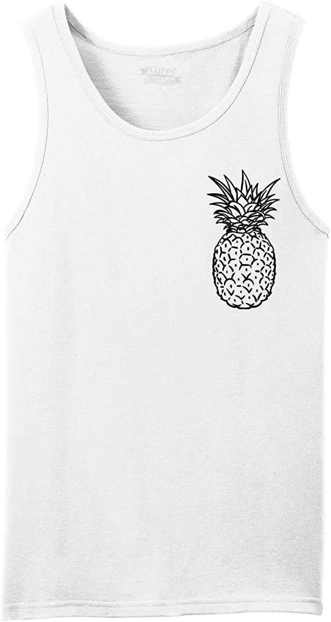 Phoenix Mall Comical Shirt Men's Pineapple Print Chest Tank Top At the price of surprise
