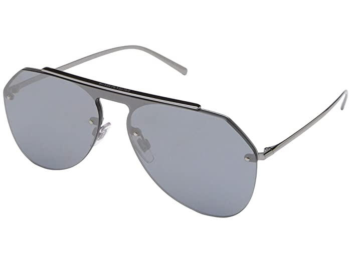 Dolce and Gabbana  DG2213 (Gunmetal/Grey Mirror Black) Fashion Sunglasses