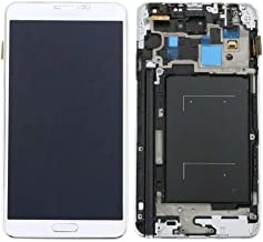 TY Display Touch Screen Digitizer with Frame for Samsung Galaxy Note 3-N9000-N9005,LTE-3G/4G Universal Edition,Free Repair Tool. (White)