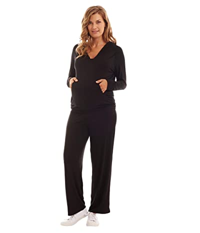 Everly Grey Irene Maternity/Nursing Two-Piece Set (Black) Women