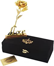 Jewel Fuel Gold Foil Rose In 24K Gold (25Cm) With Velvet Gift Box For Unisex