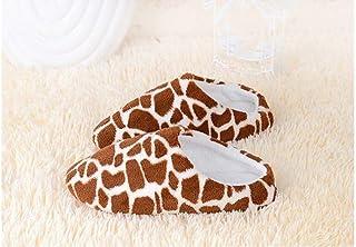 FGDSA Chanclas de Invierno para Mujer, Zapatos de Interior para el hogar, Zapatillas Cortas de Coral cálidas para Hombre, ...
