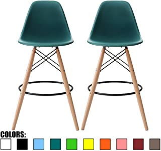 Pleasant Amazon Com Green Barstools Home Bar Furniture Home Customarchery Wood Chair Design Ideas Customarcherynet