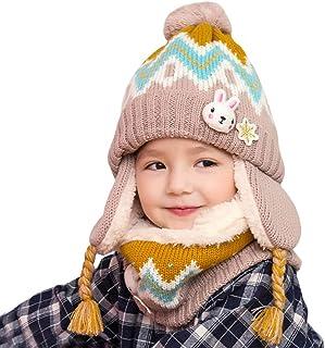 YONKINY Cappello Bambino Inverno Antivento Caldo Carino Cappello in Lavorato a Maglia Balaclavas Maschera Cappuccio Cappello per Sci Snowboard