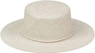 Women's Wanderer Woven Straw Boater Sun Hat