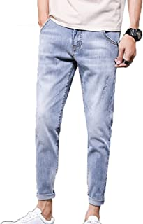 Generic11 Jeans da Uomo semplici Pantaloni Corti con Piedi Sottili Pantaloni in Denim da Strada per Pantaloni Primaverili ...