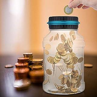 Bote electrónico digital LCD de ahorro de dinero para contador de monedas
