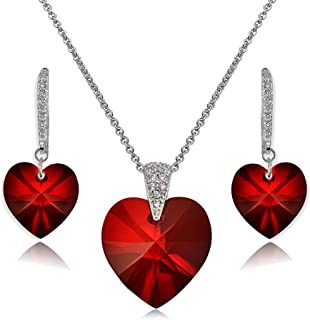 Best swarovski heart necklace and earrings Reviews
