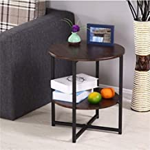 HDZWW Coffee Table Side Tables Furniture Living Room Coffee Table Modern Coffee Tables Sofa Side Mesa (Color : Brown)