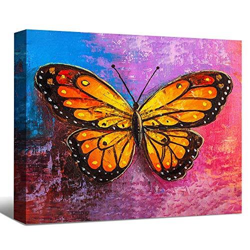 SENEW Animal Canvas Wall Art for Bedroom, Living Room, Office,Butterfly Framed Canvas Art for Home Decor,20