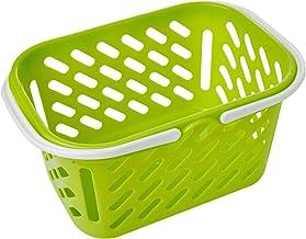 Poo Lee Basket with Handle, Green