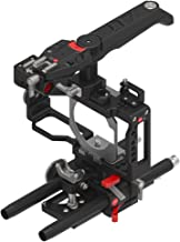 JTZ DP30 Camera Cage Bracket Base Plate Rig with Electronic Top Handle Grip for BMPCC Blackmagic Pocket Cinema Camera, Compatible with 15mm Raill System