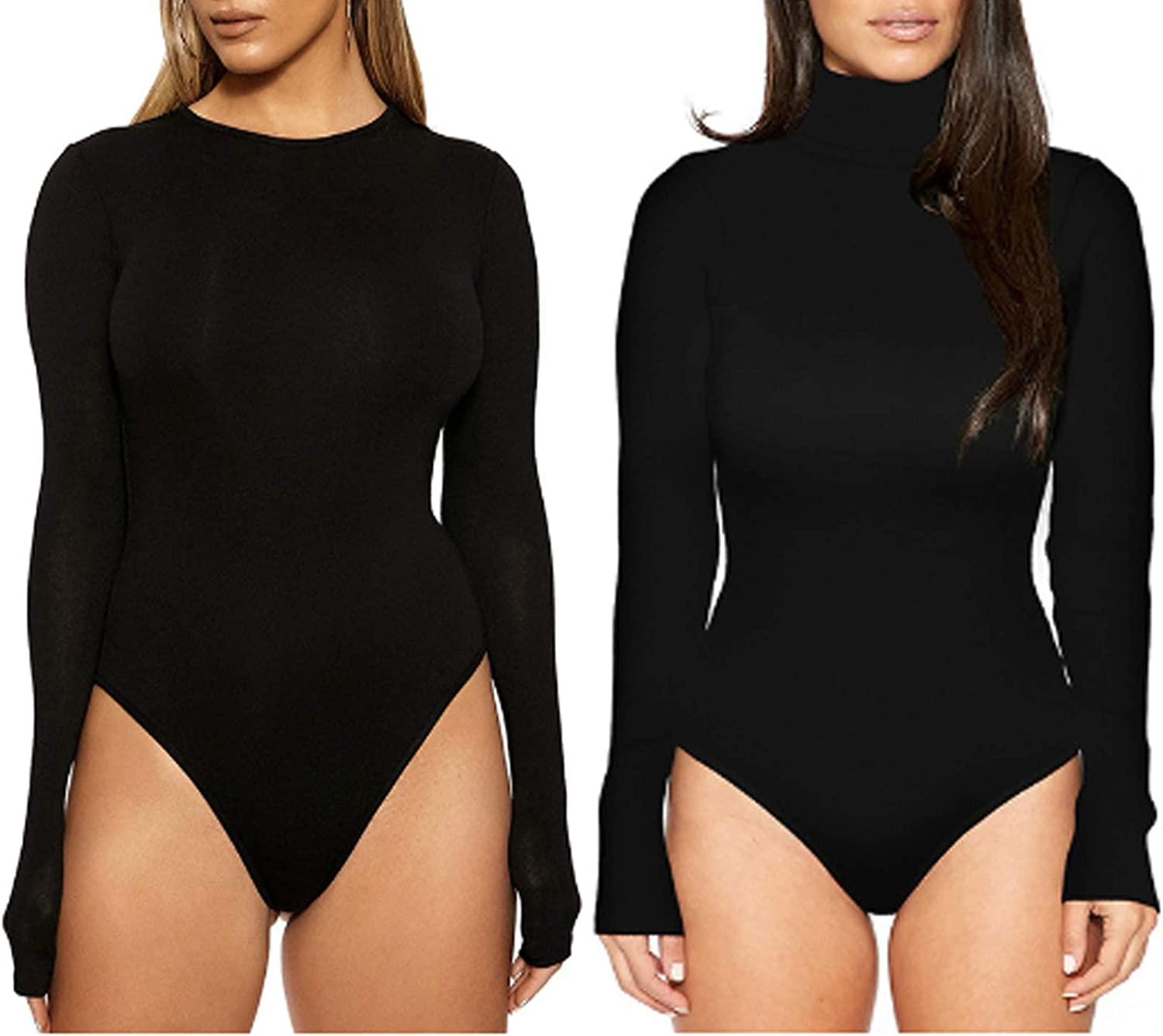 Women's Long Sleeve Slim Fit Bodysuit In a popularity Casual Basic Sexy Max 74% OFF Extender