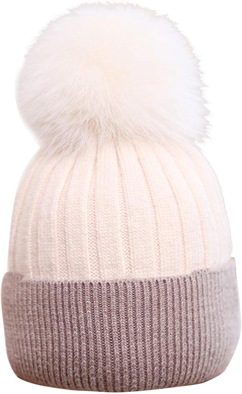 Women Winter Warm Knit Hat Soft Stretch Slouchy Cap  15