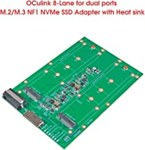 Micro SATA Cables Oculink 8X to M.2/M.3 NVMe SSD x 2 Adapter