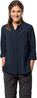 Women's Victoria Roll-up Collarless Shirt With Uv Protection
