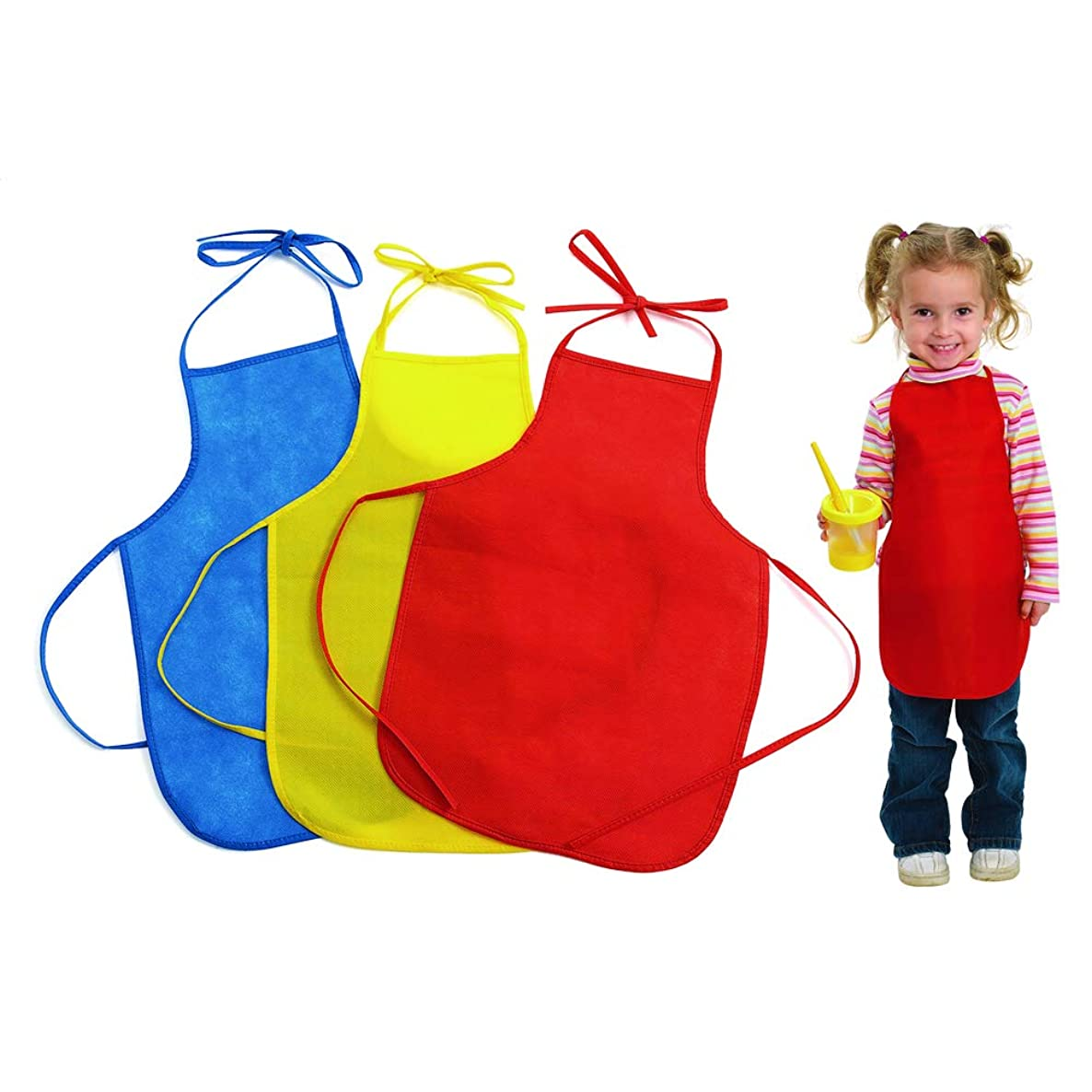 Colorations LWAPRON Lightweight Paint Aprons (Pack of 12)